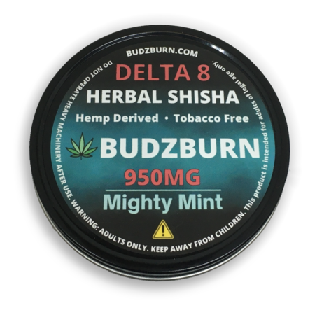 Delta 8 Shisha Mint Hooka CBD Hemp Label