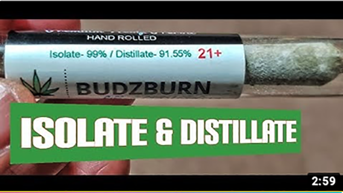 Sarkaz Bubba Lifter CBD Distillate Isolate Delta 8 Preroll Review