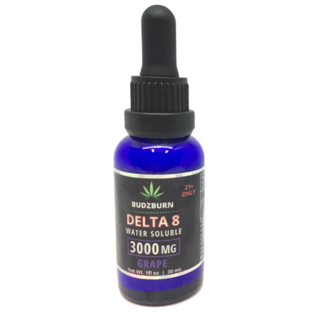 Delta 8 THC 3000mg Water Soluble Tincture Grape